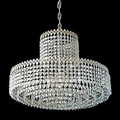 Elegant Large 8 Tier Crystal Beads Wedding Cake Bakalowits Era Chrome Chandelier 4