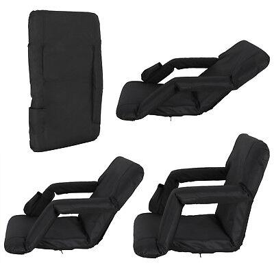 2 PCS Black Stadium Seat Bleacher Chair Cushion - 5 Reclining Positions 3