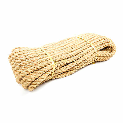 Natural Jute Rope Twisted Braided Decking Garden Boating Sash 6-40mm up to 500m 5