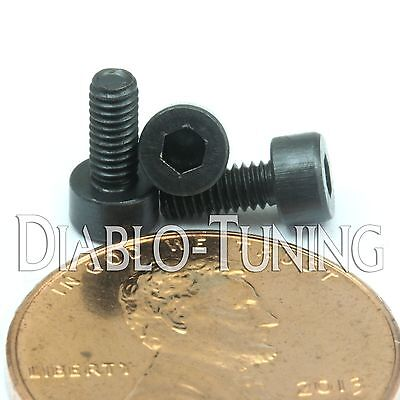 M2.5-0.45 x 8mm Socket Head Caps Screws 12.9 Alloy Steel Black Oxide DIN 912