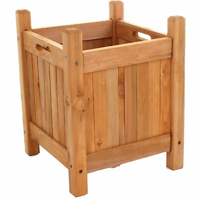 Wooden Garden Planters Outdoor Plants Flowers Pot Square Rectangular Display New 5