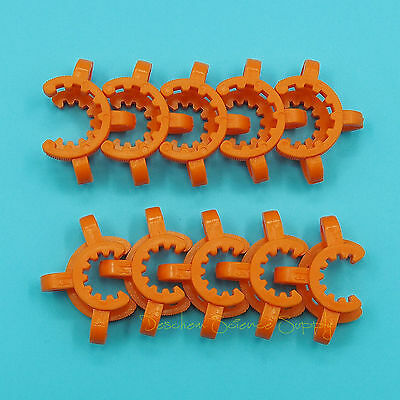 14# Lab Plastic Keck Clamp Clip for 14/23(14/20) Glass Joints 10PCS 4