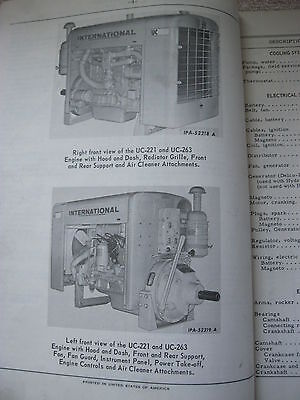 1965 Ih International Harvester Uc-221 & Uc-263 Stationary Engine Parts Catalog 2