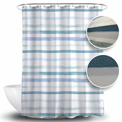 GK Duschvorhang Textil Badewannenvorhang Anti Schimmel 240x200cm inkl Ringe