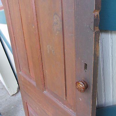Antique Hand Made Wooden Cross & Book Door, Bennington Knob,Through Tenon,1840's 6
