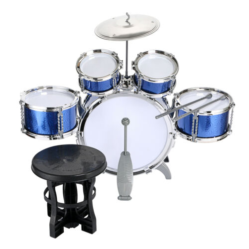 Blue / Red Junior Drum Kit For Kids - 3/5/6 Drum Set with Stool Childrens choose 4