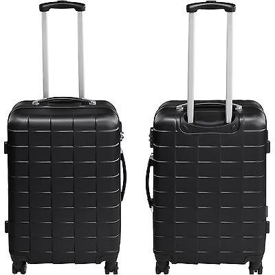 e9841dfaaf ... Set de 3 valises de voyage coque ABS léger rigide bagages valise  trolley noir 4