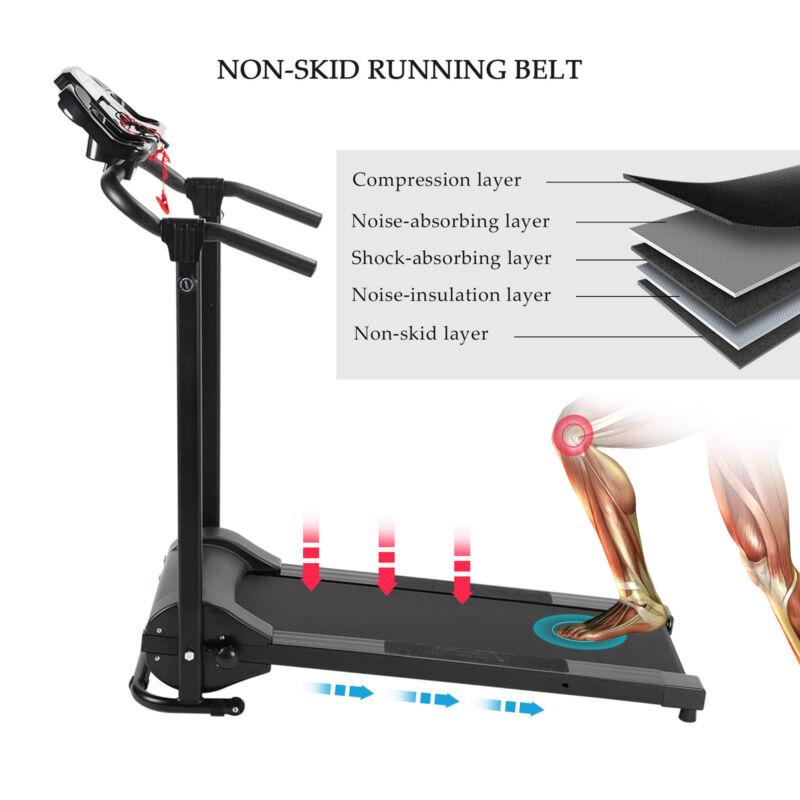 Folding Treadmill Electric Motorized Power Running Jogging Fitness Machine 8