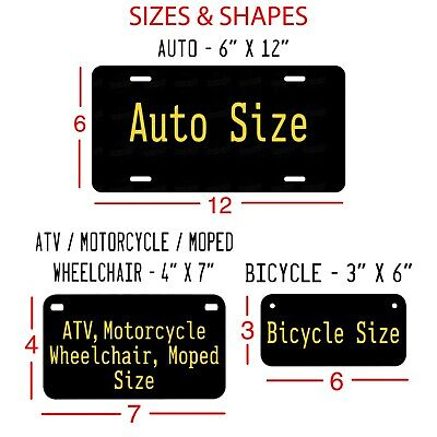 Customized License Plate Tag Personalized for Any State Auto Car Motorcycle ATV 3