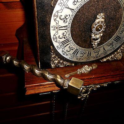 BIG Vintage Wall Clock DUTCH ZAANSE ZAANDAM stoelklok for REPAIR parts missing 9