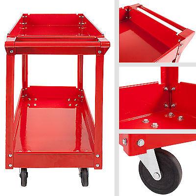 2x Chariot servante d'atelier à 2 étages Chariot à outil Chariot de montage set
