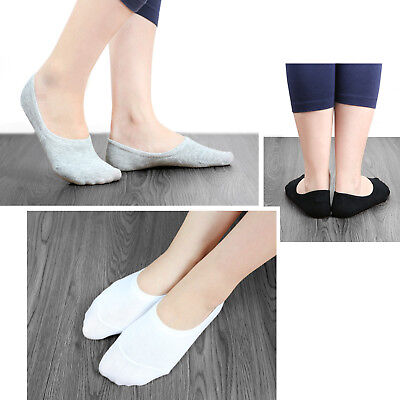 5 Pairs Men Women Invisible Low Cut No Show Footlet Socks Cotton Rich No-Slip 2