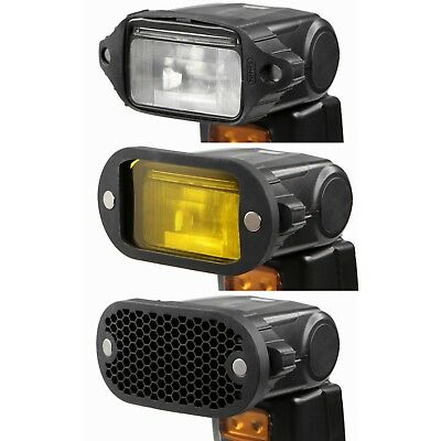 Selens Magnet Flash Modifier Kit Honeycomb Grid Grip Gel Color Filter Universal 2