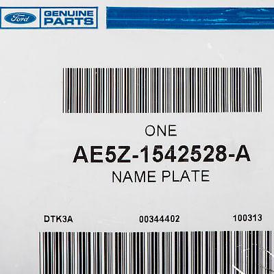 "FORD OEM Trunk Lid-Emblem Badge Nameplate /""FLEX FUEL/"" Emblem AE5Z1542528A"