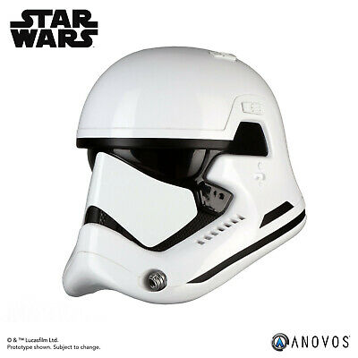 ANOVOS STAR WARS LAST JEDI First Order Stormtrooper Helmet Movie Replica In Hand 2