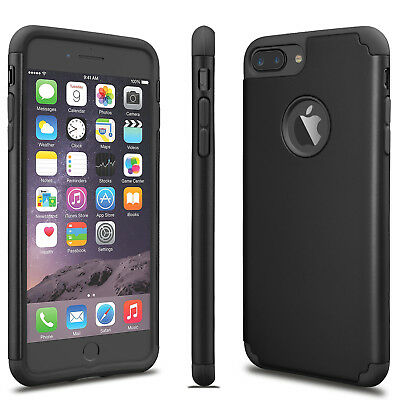 For iPhone 6S 7/8 Plus + Phone Case Luxury Shockproof Rugged Rubber Hard Cover 2
