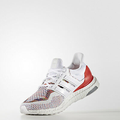 f332e5ac ... adidas Ultra Boost 2.0 Multicolor Rainbow Running Shoes White Red  BB3911 VNDS 4