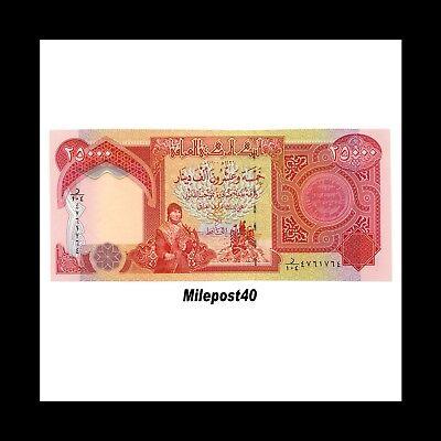 100,000 Circulated Iraqi Dinar Banknote, 4 x 25,000 IQD!! (100000) Fast Ship! 3