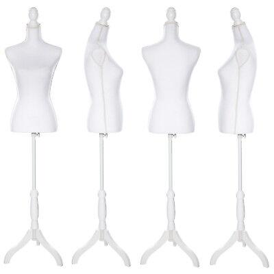 Manichino da sarta busto donna da sartoria femminile sartorie vintage bianco nuo 3