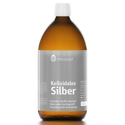 Kolloidales Silber (Silberwasser) 1000 ml, hochrein, hoch konzentriert: 25 ppm! 5