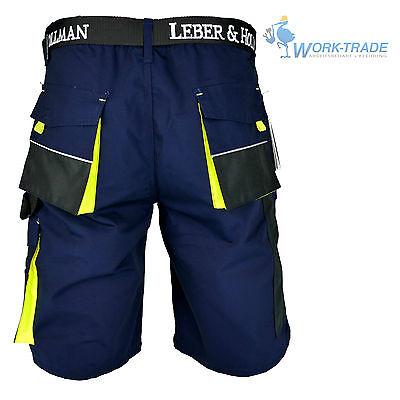 Arbeitshose Kurze Hose Kurz Bermuda Shorts Dunkelblau Schwarz Gelb Gr. S-XXXL