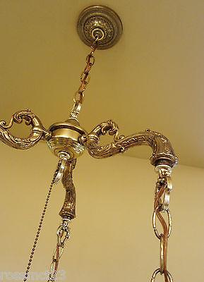 Vintage Lighting 1960s Hollywood Regency tri-globe chandelier 7