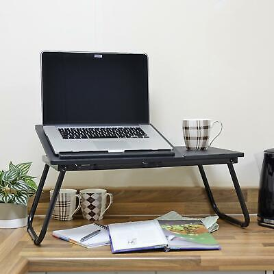 Laptop Table Folding Desk Stand Bed Tray Sofa Computer Study Adjustable Portable 6