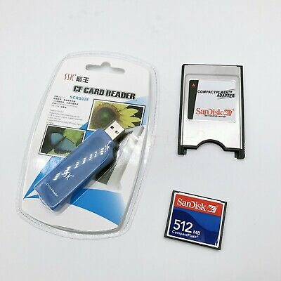 512MB Compact Flash Memory Card CF Card +PCMCIA Adapter+SSK USB2.0 reader FANUC 6