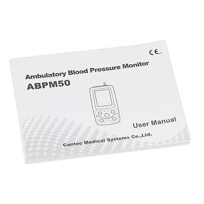 CONTEC ABPM50 Ambulatory Blood Pressure Monitor, PC Software,Adult cuff USA FDA 7
