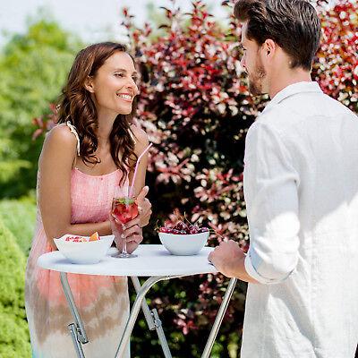 Table haute de bar mange debout bistrot jardin terrasse pliable env. 110 cm