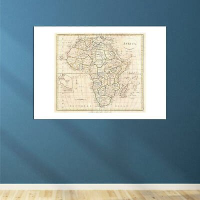 Africa Map Clement Cruttwell 1799 Wall Art Poster Print 6