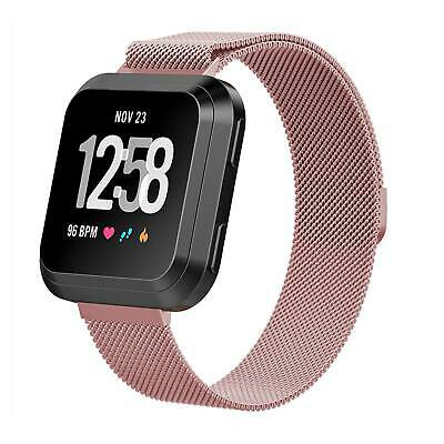 For Fitbit Versa Milanese Watch Band Strap Wrist Magnetic Stainless Steel Loop 6