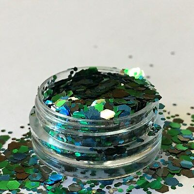 Chunky Glitter Loose Mix Pot Eye Shadow Nail Face Tattoo Festival Club Cosmetic 3