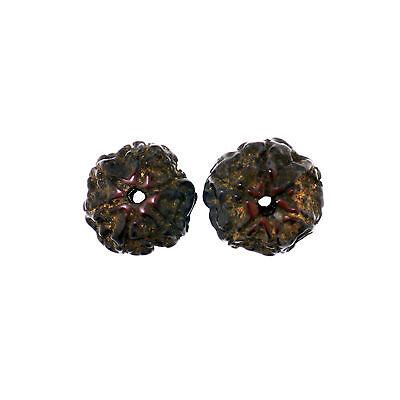(1505)  Antique rudraksha beads 6 mukhi facets 6