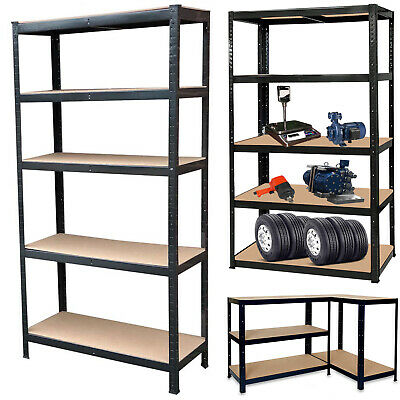 Garage Shed 5 Tier Racking Storage Shelving Units Boltless Heavy Duty Shelves 4