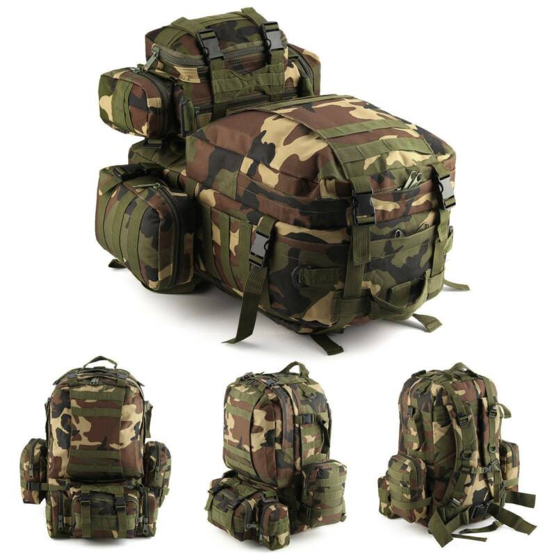 30L/40L/50L Military Tactical Army Rucksacks Molle Backpack Camping Hiking Bag 2