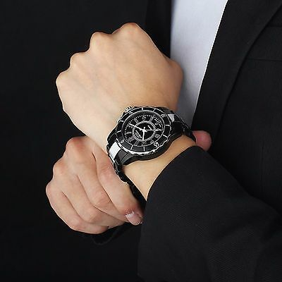 OHSEN Men's 7 LED Backlight Stainless Steel Sport Quartz Wrist Watch Waterproof 5