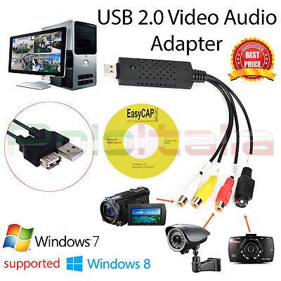 GRABBER convertitore audio video cassette VHS video camera acquisizione USB 2.0 8
