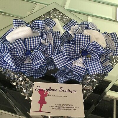 💝School 🎀 Bow Gingham Check School ankle white Socks Jazziejems Boutique ❤️ 5