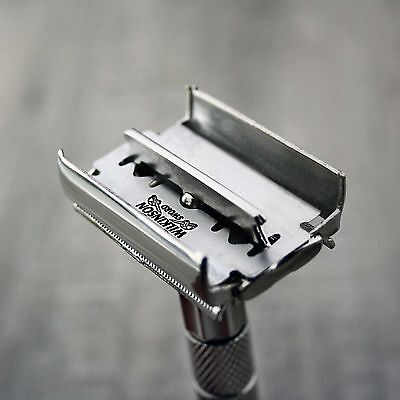 Twist Open Butterfly Safety Razor &10 Double Edge Blades Classic Shaving Vintage 3