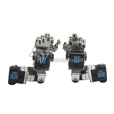 Robot Left Hand Right Hand Arm Humanoid Fingers Manipulator with Servo DIY 4
