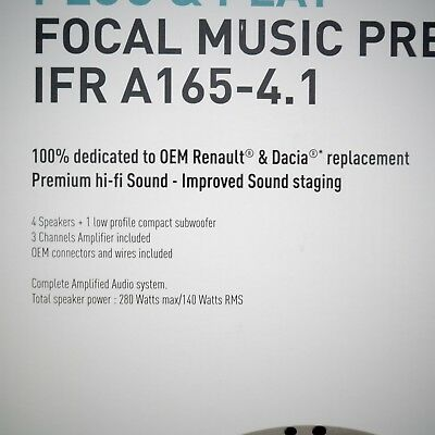 Kit haut parleur specifique Renault Focal music premium IFR A165-4.1 7711578133 3
