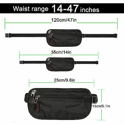 Unisex Money Belt for Men&Women, Undercover Secure Hidden Travel Passport Holder 5