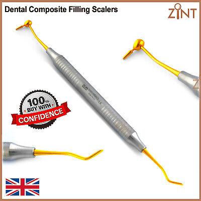 Dental Composite Plastic Filling Restorations Instruments Golden Coated CIG6 3