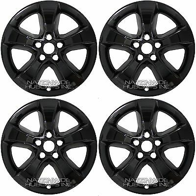 Set Of 4 Black 2011 2014 Dodge Charger 17 Wheel Skins Hub Caps Full