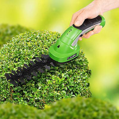 Cordless Hedge Trimmer & Grass Shear garden cutter shrub tool 7,2V Lithium ion