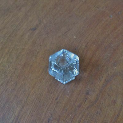 Antique Victorian Clear Glass Drawer Knob or Pull 2