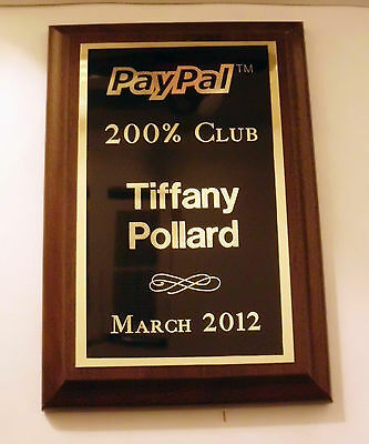 CUSTOM PERSONALIZED ENGRAVED 6x8 AWARD 6 x 8 WALL PLAQUE PLAQUES LOGO TEXT