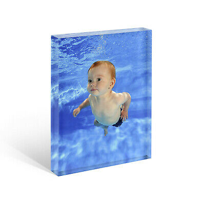 Personalised Acrylic Photo Block Frame. Collages, Awards, Art, Baby Scan Gift 4