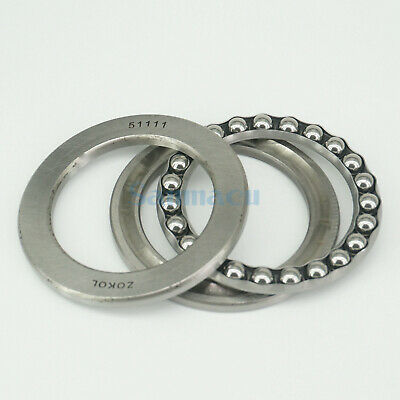 51111 55 x 78 x 16mm Axial Ball Thrust Bearing (2 Steel Races + 1 Cage) ABEC-1 4